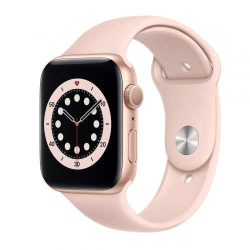 Apple Watch Series 6 44mm Sport (Arany-Rózsakvarc) Apple Garancia
