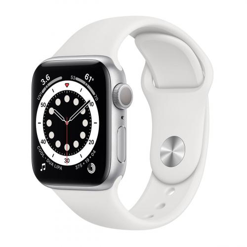 Apple Watch Series 6 44mm Sport (Ezüst-Fehér)