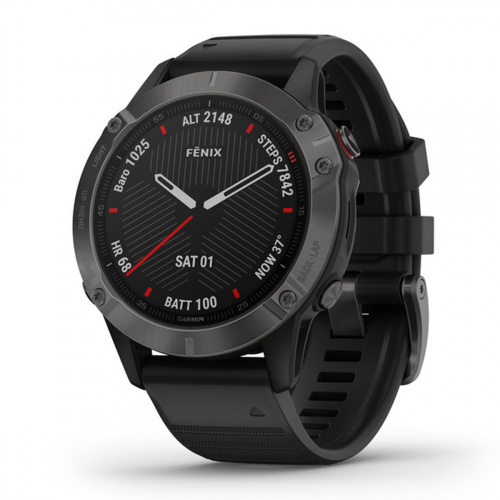 Garmin Fenix 6 Sapphire Carbon DLC (010-02158) (Fekete)