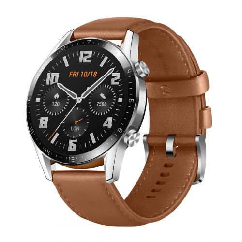 Huawei Watch GT2 Classic 46mm (Ezüst-Barna) Gyártói Garancia
