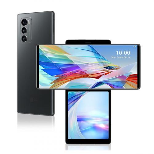 LG F100 Wing 5G Dual-SIM 128GB 8GB RAM (Szürke) Gyártói Garancia