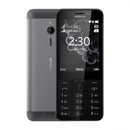 Nokia 230 Dual-SIM (Sötétszürke) Gyártói Garancia