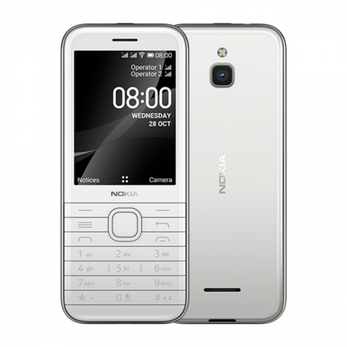 Nokia 8000 Dual-SIM 4GB 512MB RAM (Fehér)