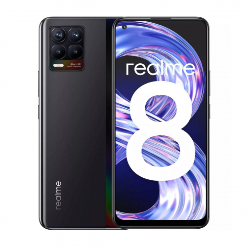 Realme 8 Dual-SIM 128GB 6GB RAM (Fekete)