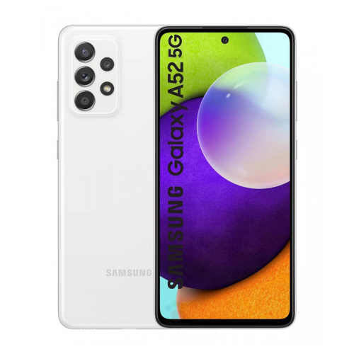Samsung A526B Galaxy A52 5G Dual-SIM 128GB 6GB RAM (Fehér) Gyártói Garancia