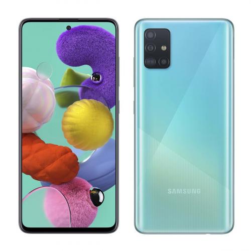 Samsung A715F Galaxy A71 Dual-SIM 128GB 6GB RAM (Kék) Gyártói Garancia
